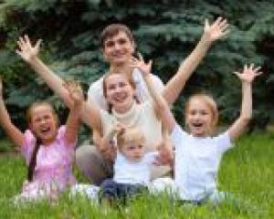 Папа, мама, я счастливая семья