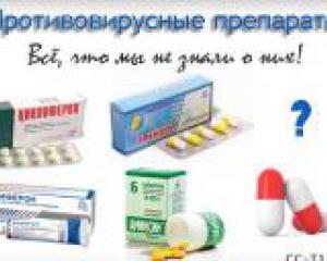 различные виды противовирусных препаратов